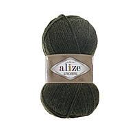 Пряжа  Alize Alpaca RoyaL 567 зеленый меланж (Альпака Роял)