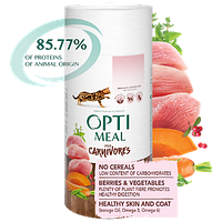 Беззерновой полнорационный сухой корм Optimeal для взрослых кошек - индейка и овощи, 650 г