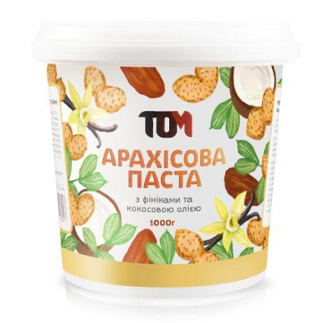 Арахисовая паста ТОМ - С финиками и кокосовым маслом (1000 грамм)