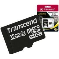 Карта памяти  32 Gb Transcend micro SDHC Class 10 +SD adapter