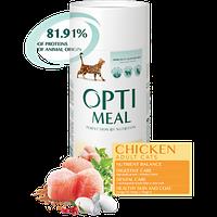 Полнорационный сухой корм Optimeal для взрослых кошек - курица, 650 г
