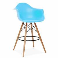 Стул высокий, барный стул с пластиковым сиденьем, стул для администратора Тауэр Вуд Eames