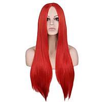 Парики без челки длинный ровные парик красный ровный черные перука карнавальный хелоуин ведьма карнавальные