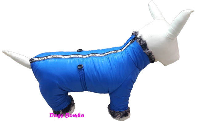 Водоотталкивающий теплый зимний комбинезон для собак DogsBomba