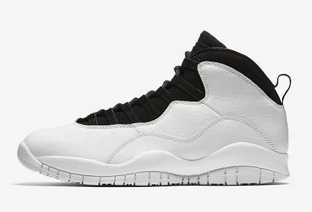 """Кроссовки Air Jordan 10 Retro I'm Back """"White/Black"""" (Белые/Черные), фото 2"""