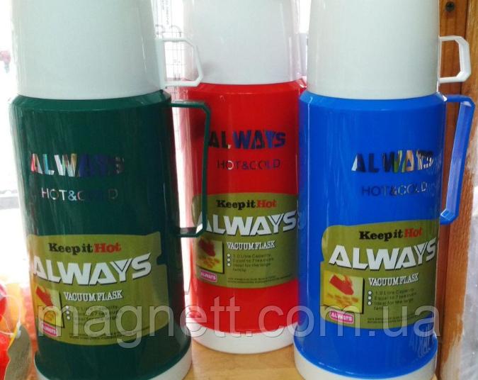 Термос стеклянный ALWAYS 1000мл + чашка