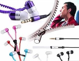 Наушники-молния Zipper earhones, фото 2