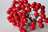 Глянцевые ягоды красного цвета (калина) около 50 шт/уп., фото 1