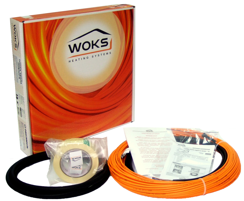 Нагревательный кабель Woks-10 (Украина) 159 м. Теплый электрический пол