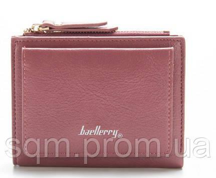 821c706ddcba Женский кошелек BAELLERRY Casual Mini кожаное портмоне на кнопке Розовый  (SUN0557)
