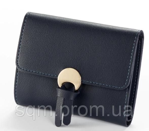 0b9283d3d881 Женский кошелек BAELLERRY Wallet Mini кожаное портмоне на кнопке Черный  (SUN0543)