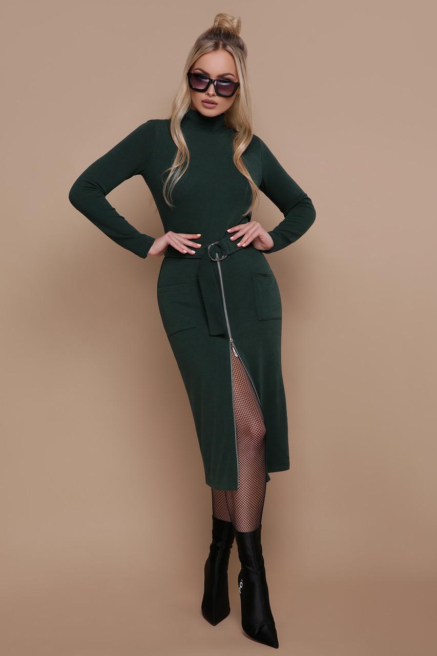 Ангорова чорна сукня в діловому стилі