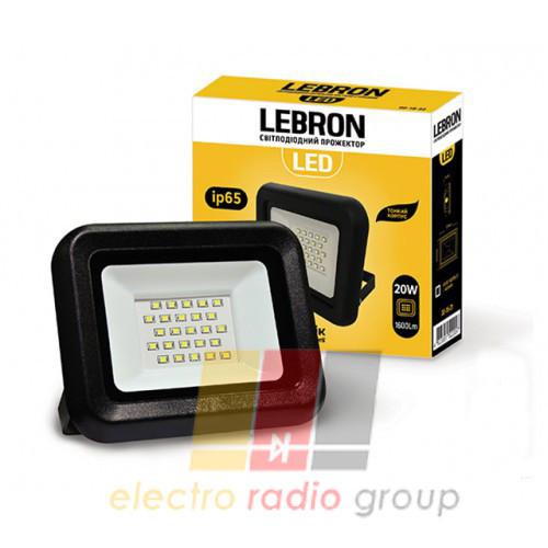 LED прожектор Lebron LF, 20W, 6200К, 1600 Lm, кут 120