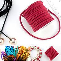 (4 метра) Замшевый шнур на бобине (ширина шнура 3мм) Цвет - Красный