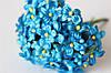 Веточки незабудки 6 шт/уп. голубого цвета с листиком и тычинками