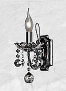 Тёмно-серебряная хрустальная брана 1 свечу