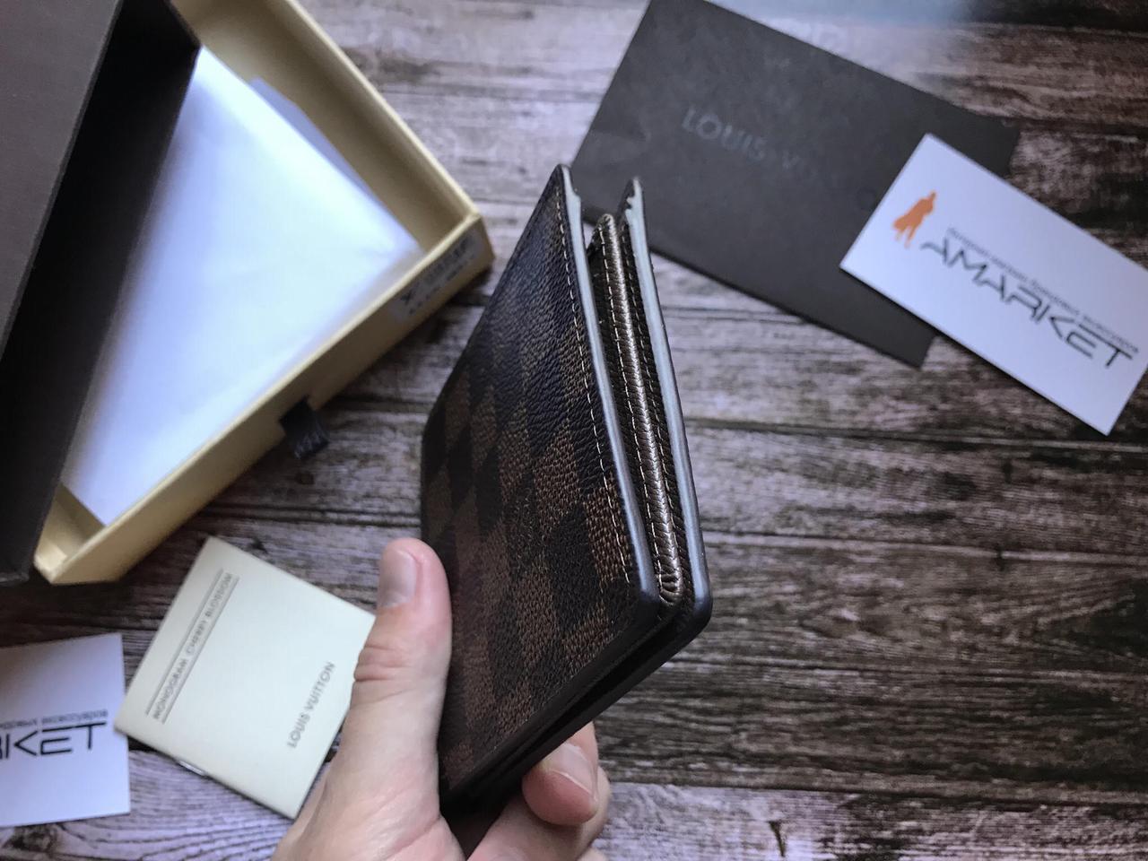 ce18b9fe798c ... Кошелек клатч портмоне бумажник коричневый мужской женский Louis  Vuitton премиум реплика, ...