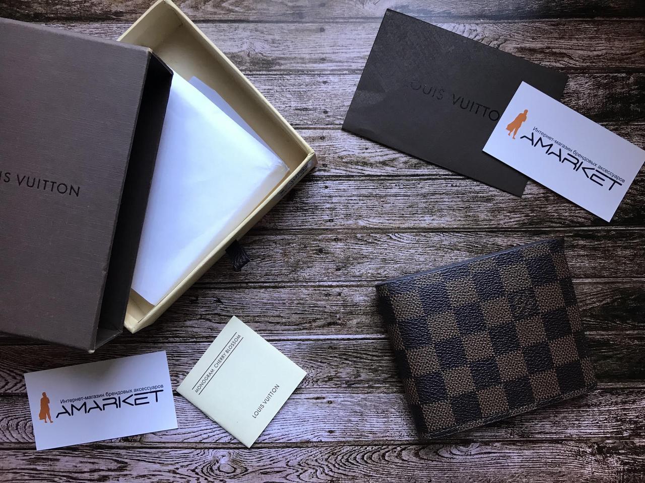 a6acfa2d7f46 Кошелек клатч портмоне бумажник коричневый мужской женский Louis Vuitton  премиум реплика - AMARKET - Интернет-