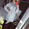 Туника плотной объёмной турецкой вязки Турция. Размер единый 42-46. Цвет: серый. (5167), фото 4