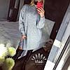Туника плотной объёмной турецкой вязки Турция. Размер единый 42-46. Цвет: серый. (5167), фото 5