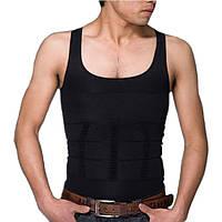 🔝 Мужская майка корректирующая талию Slim-n-Lift - XXL, чёрная, утягивающее белье с доставкой по Киеву и Украине | 🎁%🚚