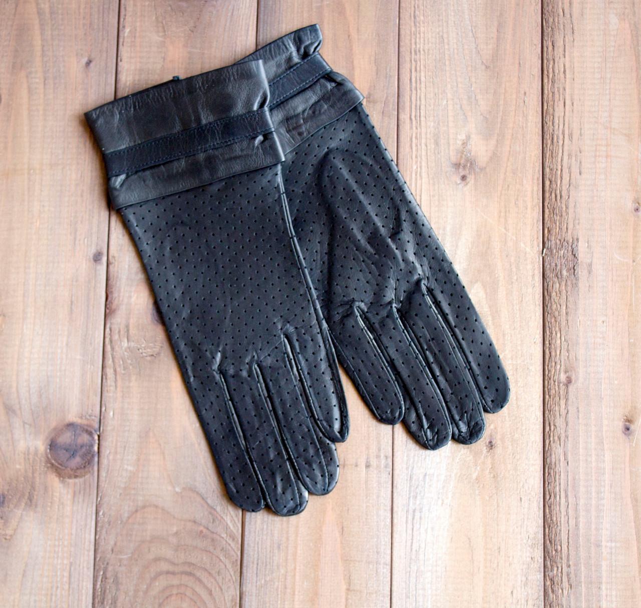 Женские кожаные перчатки Средние
