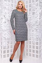 Женское приталенное платье больших размеров (2870-2871 svt), фото 2