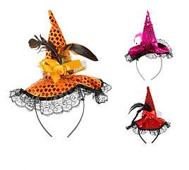Шляпка Ведьмы с кружевом (3 вида)