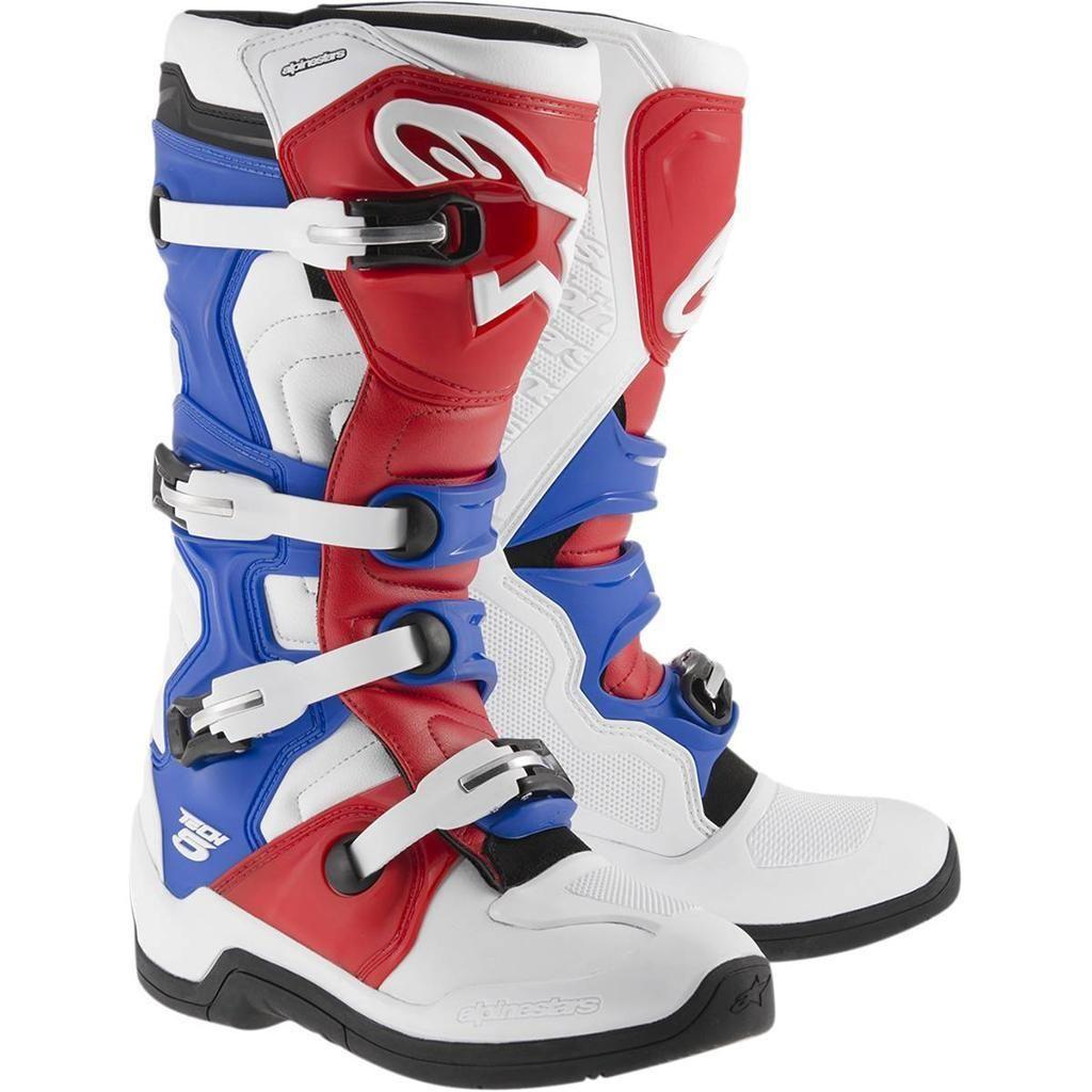 """Мотоботы Alpinestars Tech 5 """"44"""" white/red/blue"""