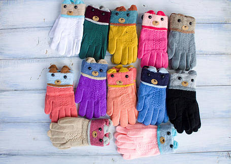 Детские перчатки Мишка, фото 2