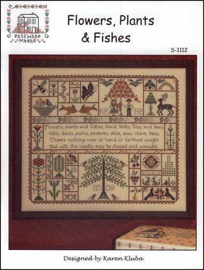 Схема для вышивки крестиком Rosewood Manor Flowers, Plants & Fishes