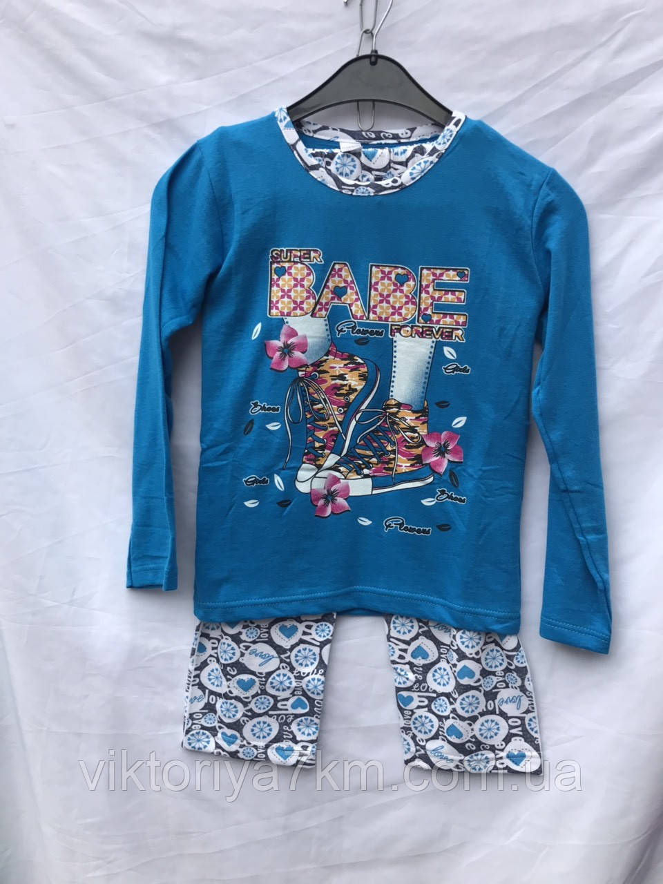 """Пижама детская(байка) на девочку (5-14 лет) """"Кandy"""" RS2-1718"""