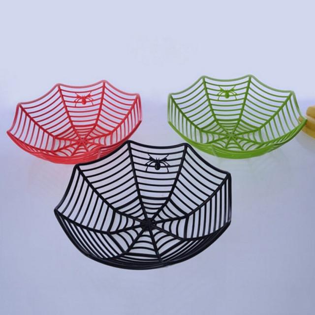 Корзинка для конфет и фруктов на Хэллоуин Паук