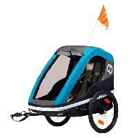 Велоприцеп Hamax Avenida Twin двухместный многофункциональный детский petrol/blue