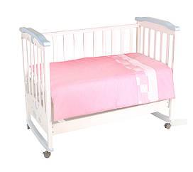 """Постельный комплект- 3 элемента, """"Маленькие друзья"""" сменный, розовый, в пак. 30*27см, Тигрес"""