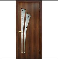 Двери ПВХ с фотопечатью на стекле Пальма