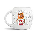 """Дизайнерская кружка с котом """"Хочу ще!"""", фото 2"""