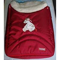 Спальный мешок на овчине Womar 8 excluzive 4/2 темно-красный 11001