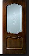Двери межкомнатные шпонированные Кармен со стеклом Омис