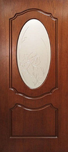 Двері міжкімнатні шпон Олівія зі склом Оміс горіх LUX