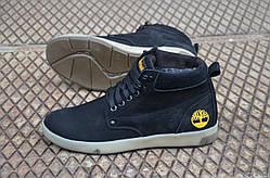 Мужские зимние ботинки на меху Timberland, натур кожа (реплика)