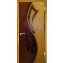 Дверне полотно Лілія 2 глухе ПГ Дуб натуральний тон-горіх(двоколірний)