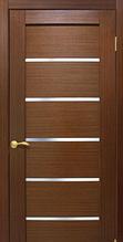Дверне полотно шпонированое Токіо зі склом Оміс