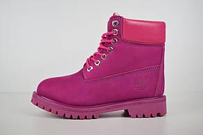 Женские зимние ботинки Timberland Classic Boot, малиновые (USA)
