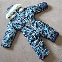 Детский зимний комбинезон цельный на овчине 80-86 размер для мальчиков, фото 1