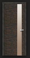 Двери межкомнатные шпонированные  Офис с зеркалом Рубин Омис