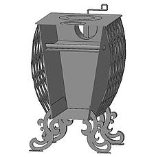 """Буржуйка """"Фаберже"""" с конвекцией + вторичный дожиг печных газов, сталь 4 мм, фото 3"""