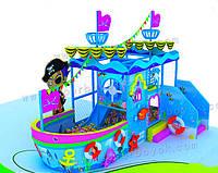 """Детский игровой лабиринт в виде корабля """"Пираты"""""""