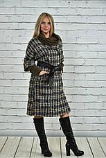 Хит сезона! женское пальто на подкладке с поясом батал размеры: 42-74, фото 3