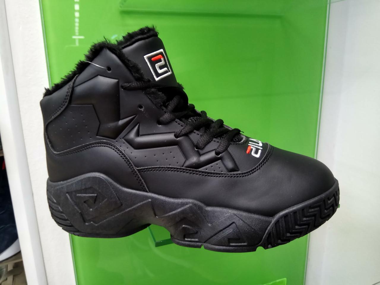 Жіночі зимові черевики Fila MB Mesh Black Leather
